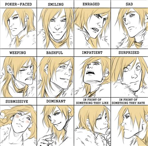 Expressions Meme - comm abces expression meme by noiry on deviantart