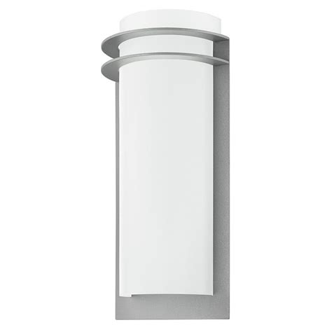 eglo malgera 1 light silver outdoor integrated led wall