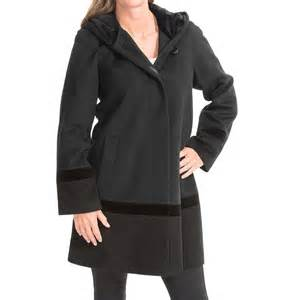 forecaster of boston color block lambswool coat for women