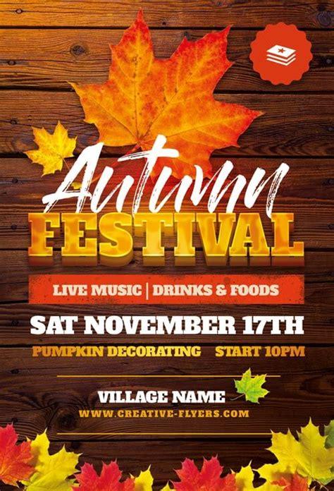 autumn festival flyer templates fall  creative