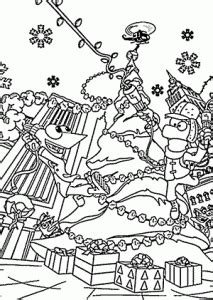 christmas coloring pages  kids printable  phineas  ferb coloing kidscom