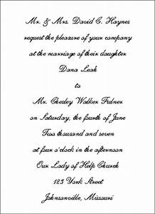 wedding invitation wording wedding invitation wording and With traditional wedding invitation wording