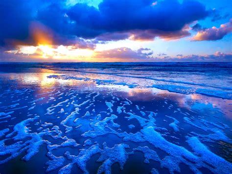 Tide Sunset Waves Wallpaper 374 1400x1050  Wallpaper Hd