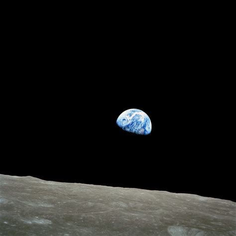 Apollo 8 Earthrise Space Moon Earth Nasa Hd