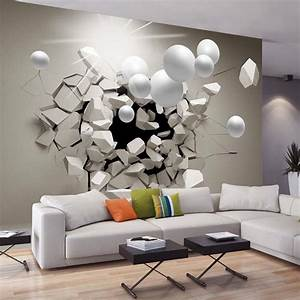 Idee Deco Avec Des Photos : tapisserie salon moderne avec idee deco tapisserie home ~ Zukunftsfamilie.com Idées de Décoration