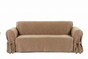 Fit matelasse damask sofa slipcover russcarnahan for Furniture slipcover companies
