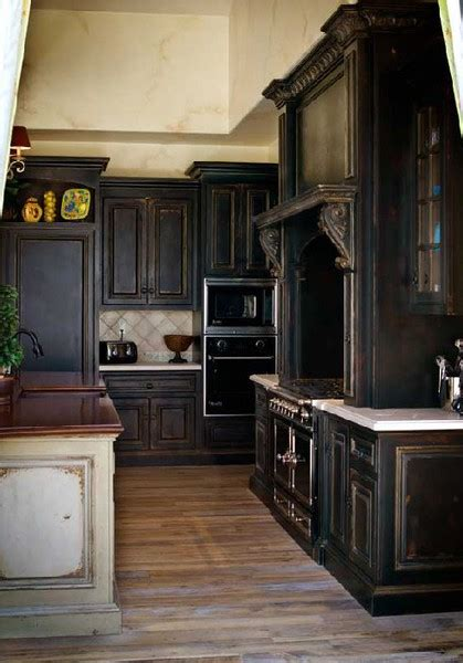 antique black kitchen cabinets colored kitchen cabinets 4077