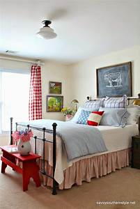 Savvy, Southern, Style, Remembering, Red, White, And, Blue, Decor, In, My, Favorite, Rooms