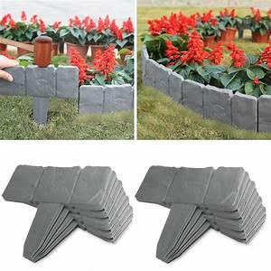 20, Pcs, Cobbled, Stone, Border, Garden, Edging, Lawn, Border, Hammer, In, Lawn, Plant, Border