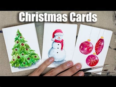 youtube watercolor christmas cards tutorials watercolor cards tutorial speed painting