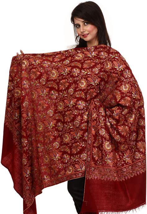 silk pajamas pashmina shawl from kashmir with jafreen