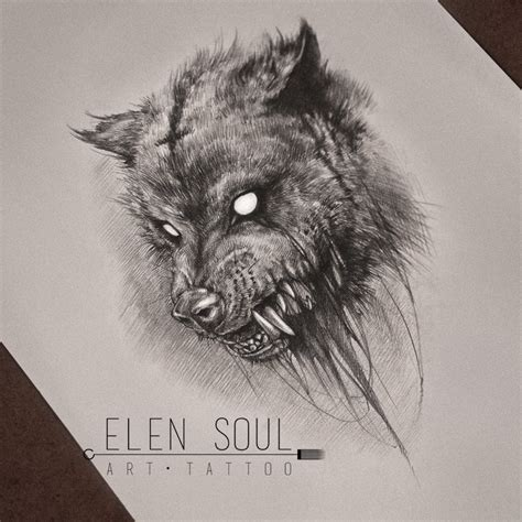 grey ink  flying raven tattoo design  naira wolf
