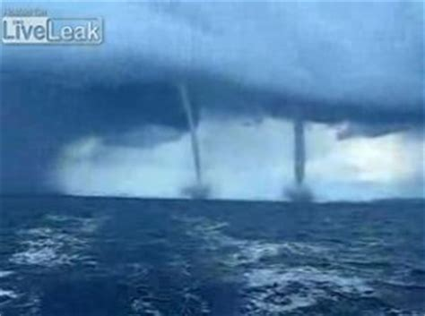 Twin Water Tornadoes Beautiful Scary View The Same
