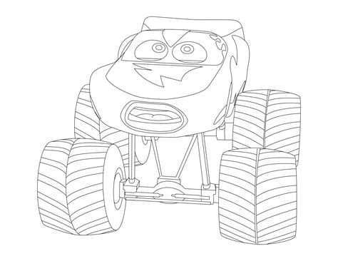 mack  lightning mcqueen coloring pages coloring pages