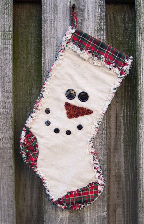 snowman face rag quilt stocking  pattern  digital pattern