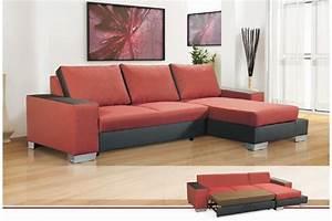 canape d39angle en tissu maeva convertible canapes d With tapis rouge avec canapé d angle convertible droit