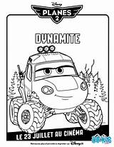 Dynamite Coloring Planes Disney Pages Printable Printables sketch template