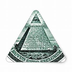 Eye On The Dollar Illuminati Pyramid Triangle Sticker   Zazzle