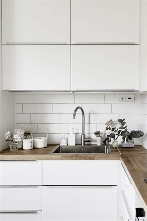 plan de cuisine davaus cuisine blanche avec plan de travail en bois