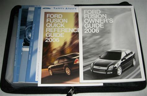 ford fusion owners manual guide set  wcase ebay