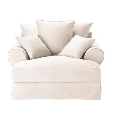 chaise hello cotton chaise longue in ivory bastide maisons du monde