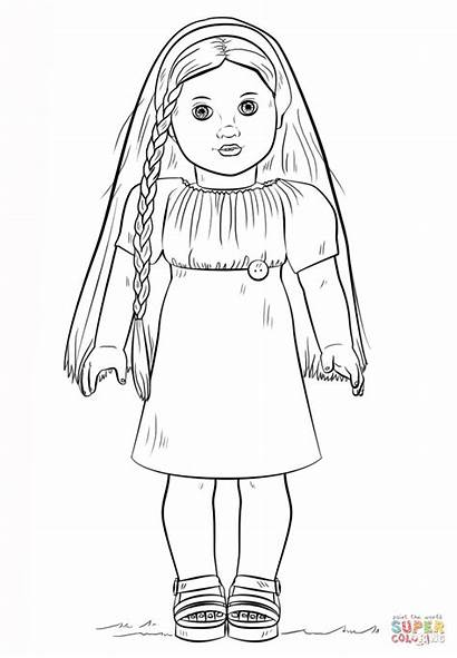 Coloring Doll American Pages Julie Printable Paper