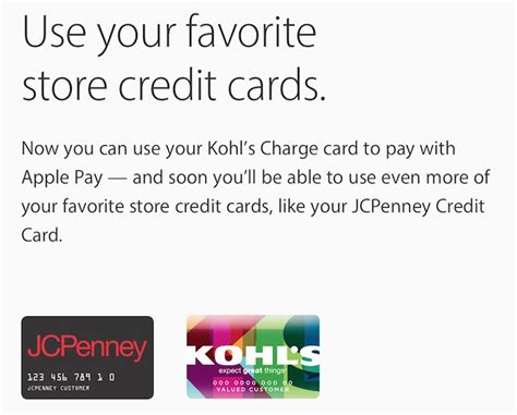 If you apply for a credit card, the lender may use a. JCPenney now testing store card support for Apple Pay; public rollout set for Spring 2016
