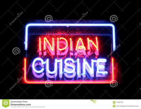 neon cuisine indian cuisine neon sign royalty free stock photo image