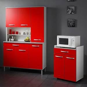 Buffet De Cuisine : buffet de cuisine rouge et blanc ~ Teatrodelosmanantiales.com Idées de Décoration