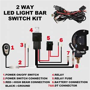 2 Way High Beam Wiring Loom Harness 12v 40a Relay Switch