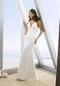 white halter wedding dress simple white wedding dress with halter top sang maestro