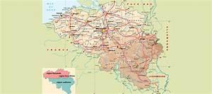 Carte Du Monde Liège : carte belgique et pays voisins pays monde ~ Teatrodelosmanantiales.com Idées de Décoration