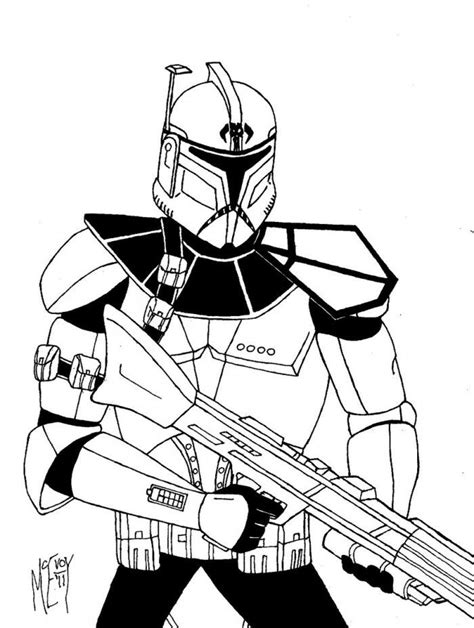 Clone Trooper Kleurplaat by Clone Trooper Coloring Page Az Coloring Pages