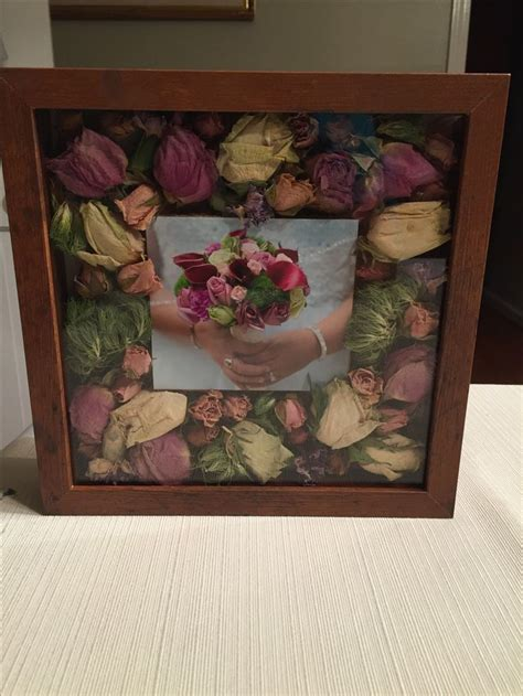bouquet shadow box ideas  pinterest preserve