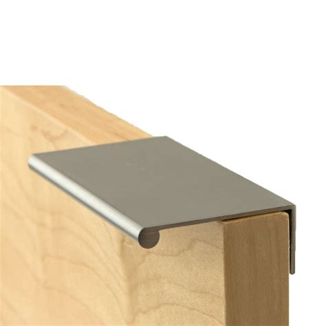 berenson brushed nickel drawer berenson 3 inch length brushed nickel finger pull 1057