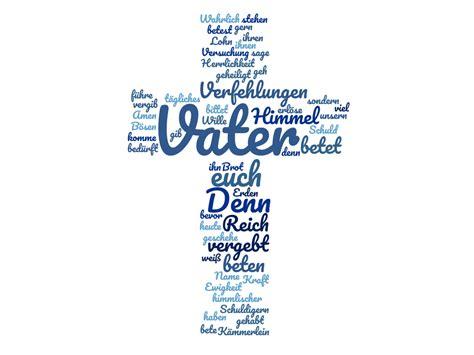 Vater Unser als Kreuz  Kirchgemeinde Glattfelden