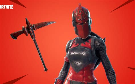 official wallpaper  red knight  fortnite game