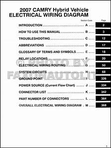 2007 Toyota Camry Hybrid Wiring Diagram Manual Original