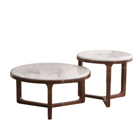 ● glamorous style for luxurious living. Decor8 Living Room & Lounge Furniture | Leroy Round Faux Marble Coffee and Side Table Set with ...