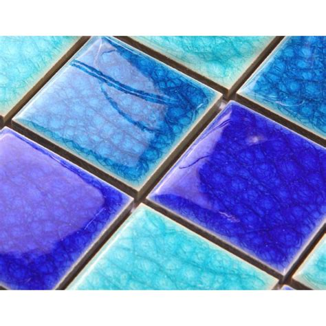 crackle glass tile with porcelain base swimming pool tiles