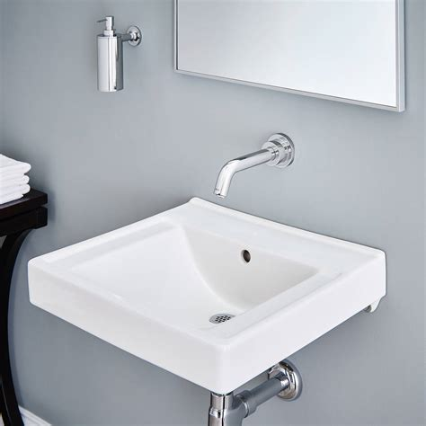Bathroom Counter Revit by Decorum Wall Hung Sink With Everclean No Faucet Holes