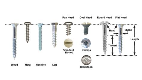 Different Types Of Screws And Their Uses