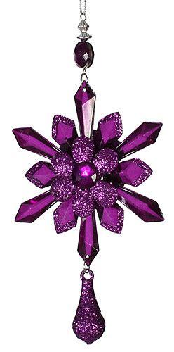 purple starburst ornament