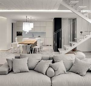a bright white home with organic details With interior decoration in home science