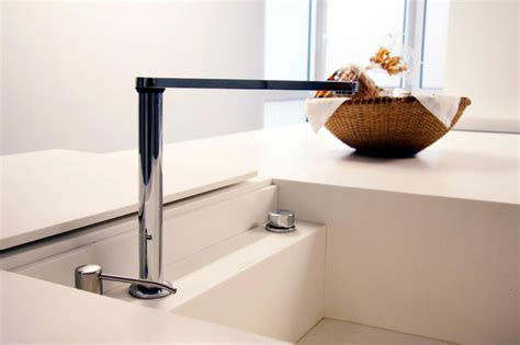 Sink with hidden faucet.   Modern   Kitchen   San