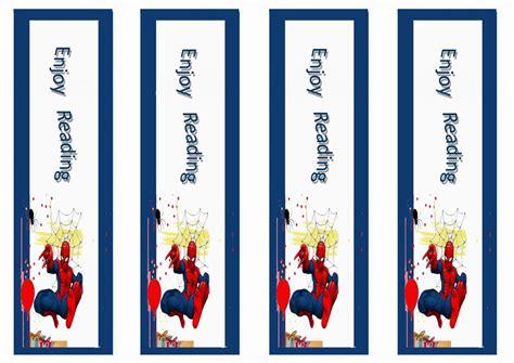 spiderman bookmarks birthday printable birthday ideas