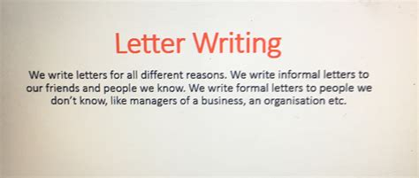powerpoint  letter writing mashie