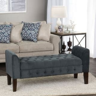 settees and benches homepop gunmetal grey velvet storage bench settee free