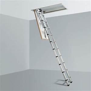 Escalier Escamotable Grenier : escalier escamotable et chelle de grenier en bois plafond ~ Melissatoandfro.com Idées de Décoration