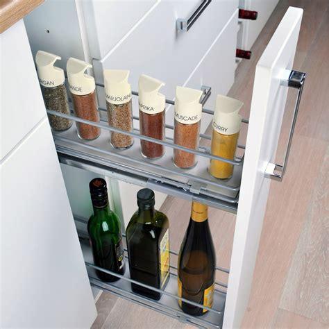 la cuisine des saveurs rangement coulissant epices bouteilles pour meuble l 15